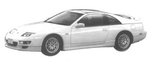Nissan Fairlady Z R 2BY2 T BAR ROOF 1998 г.