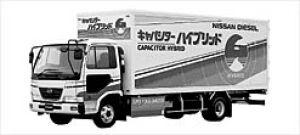 Nissan Diesel Condor Capacitor Hybrid Dry Van 2003 г.