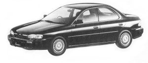 Subaru Impreza 4WD HARD TOP SEDAN 1.8L HX 1992 г.