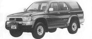 Toyota Hilux Surf WAGON 2400 DIESEL TURBO SSR-X WIDE BODY 1992 г.