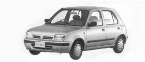 Nissan March 5DOOR HATCH BACK I-Z-F 1992 г.