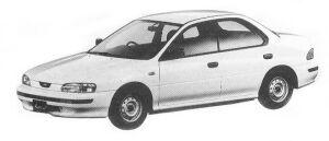 Subaru Impreza 4WD HARD TOP SEDAN 1.6L CF 1992 г.