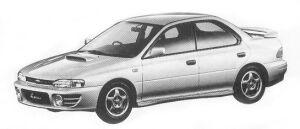 Subaru Impreza 4WD HARD TOP SEDAN 2.0L WRX 1992 г.