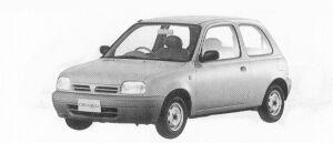 Nissan March 3DOOR HATCH BACK I-Z 1992 г.