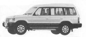 Mitsubishi Pajero KICK UP ROOF XP 1992 г.