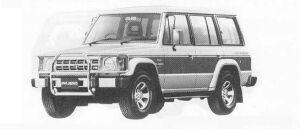 Mitsubishi Pajero MID ROOF WAGON V6 3000 SUPER EXCEED-W 1990 г.