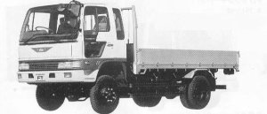Hino Ranger CRUISING FT 4WD 3.5T 1990 г.
