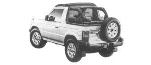 Mitsubishi Pajero J TOP JS 1997 г.