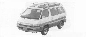 Toyota Townace WAGON 4WD ROYAL LOUNGE 2000 DIESEL TURBO 1991 г.