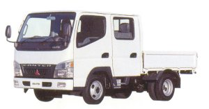 Mitsubishi Fuso CANTER GUTS All Low Floor,  Double Cab Truck 2005 г.